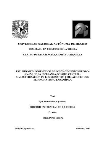 Efrén Pérez Segura - Centro de Geociencias ::.. UNAM