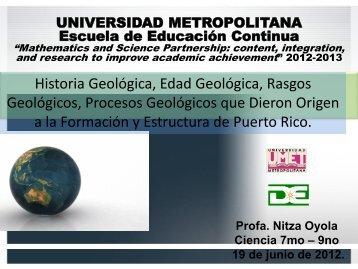 UNIVERSIDAD METROPOLITANA Escuela de Educación Continua ...