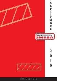 00 CUBIERTA Junio 2006.qxd - Imeba Automatismos