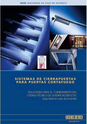 Cierra puertas para puertas cortafuego PDF - Suafo. Suministros ...
