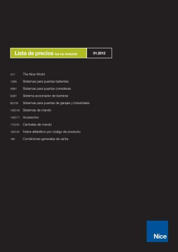 Catálogo automatismos - Mayfersur