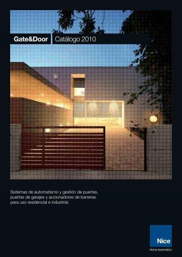 Gate&Door Catálogo 2010 - Nice SpA