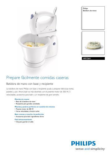 HR1564/03 Philips Batidora de mano