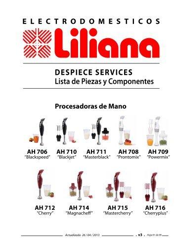 DESPIECE SERVICES Lista de Piezas y Componentes - Liliana