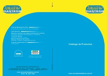 Catálogo de Productos - Vencedora Maqtron