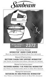 mixmaster® hand/stand mixer batteur à main/sur support mixmaster ...