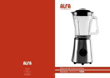 Batidora MODELO 7066 - Alfa