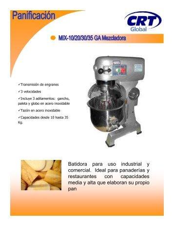 Batidora para uso industrial y comercial. Ideal para ... - CRT Global