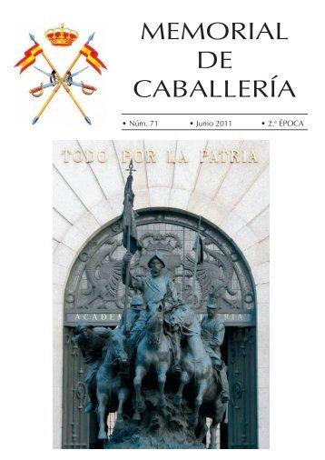 MEMORIAL DE CABALLERÍA Nº 71 JUNIO 2011 - Portal de Cultura ...