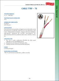 CABLE TTRF — 70 - Conductores Eléctricos Lima SA