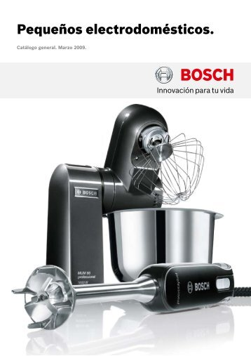 Pequeños electrodomésticos. - Bosch