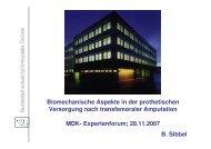 B. Sibbel Biomechanische Aspekte in der prothetischen Versorgung ...