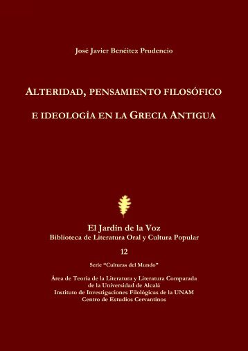 Alteridad, pensamiento filosófico e ideología en la Grecia Antigua