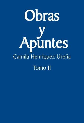 Obras y apuntes. Camila Henríquez Ureña, 2