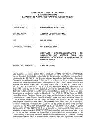 FUERZAS MILITARES DE COLOMBIA EJERCITO NACIONAL ...
