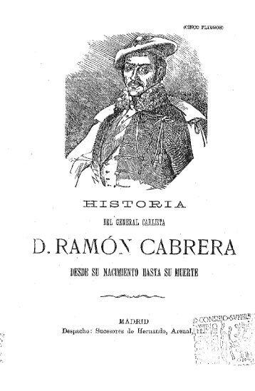 D. RAMÓN CABRERA - Biblioteca Tomás Navarro Tomás