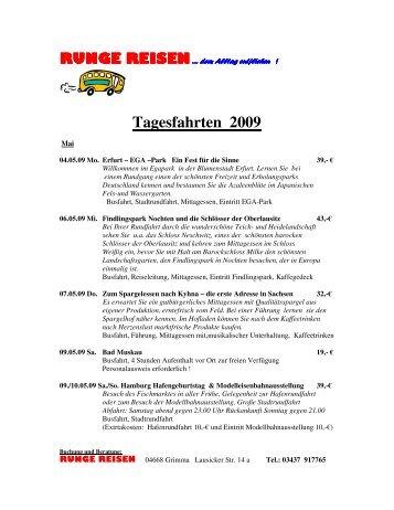 Tagesfahrten 2009 - Runge- Reisen
