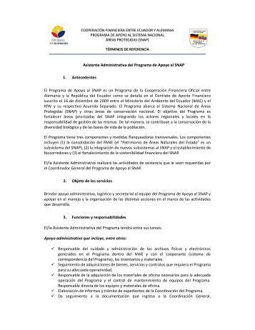 Asistente Administrativa - Ministerio del Ambiente