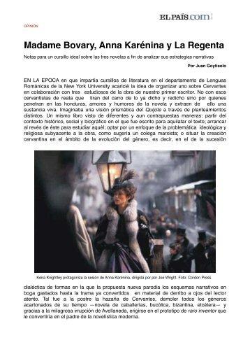 Madame Bovary, Anna Karénina y La Regenta - Los Medios