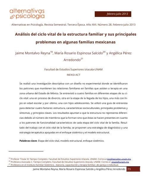 7 Análisis Del Ciclo Vital De La Estructura Familiar Y