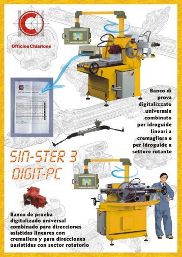 Banco de prueba digitalizado universal ... - Chiarlone Officine