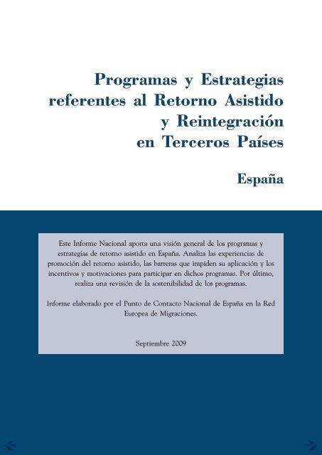 Programas y estrategias referentees al retorno asistido y ...