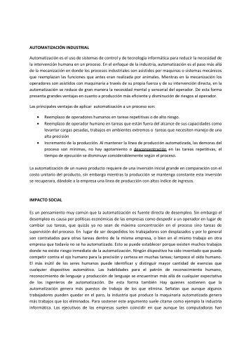 Automatizacion Industrial - Rocatek