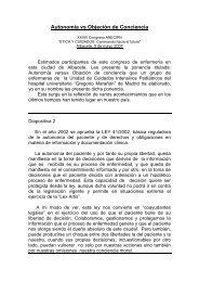 AUTONOMIA VS OBJECIÓN DE CONCIENCIA - CODEM
