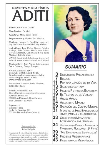 Revista ADITI Nº II-18 Mz.2005 - Juan Carlos Garcia