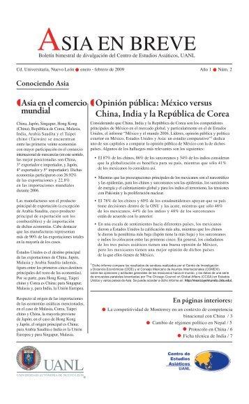 ASIA EN BREVE - Universidad Autónoma de Nuevo León