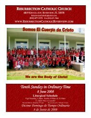 Tenth Sunday in Ordinary Time - Resurrection Catholic Riverview