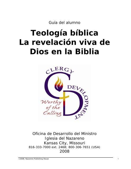 Teología bíblica La revelación viva de Dios en la Biblia