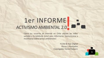 Presentación Activismo 2.0 - Facultad de Comunicaciones - UC