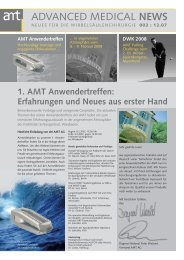 1. AMT Anwendertreffen - AMT Advanced Medical Technologies AG