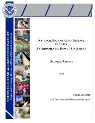 NBAF Scoping Report - U.S. Department of Homeland Security