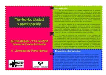 Territorio, ciudad Territorio, ciudad y participación ... - Ezkergogoa.org