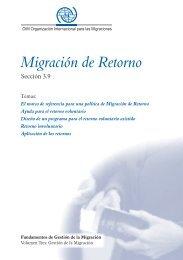 3.9 Migración de Retorno - Conferencia Regional sobre Migración