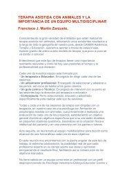 TERAPIA ASISTIDA CON ANIMALES Y LA IMPORTANCIA DE UN ...