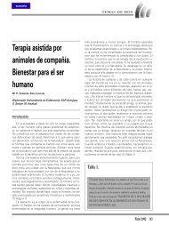 Terapia asistida por animales de compañía. Bienestar para el ser ...