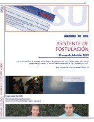 ASISTENTE DE POSTULACIÓN - Demre