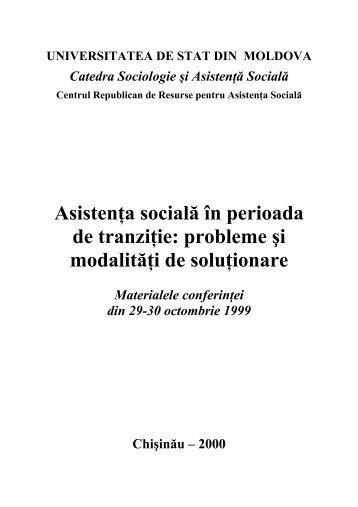 (PDF) Asistenta sociala in perioada de tranzitie - Tempus ...