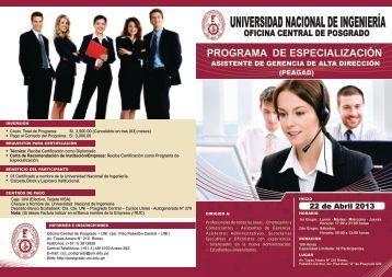 Programa de Especialización Asistente de Gerencia de Alta Dirección.