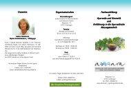 Fachausbildung Fachausbildung in Ayurveda und Kosmetik ...