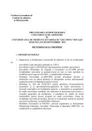 Metodologie Admitere - Gr.T. Popa