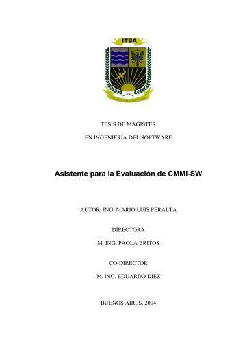 Asistente para la Evaluación de CMMI-SW - ITBA