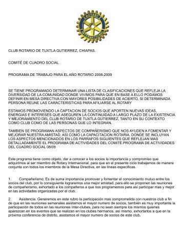 CLUB ROTARIO DE TUXTLA GUTIERREZ, CHIAPAS ... - Distrito 4200