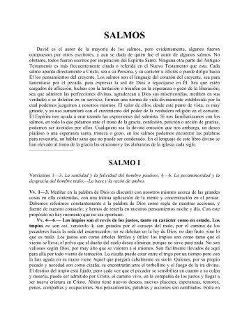 SALMOS - iglesia bautista getsemani de montreal