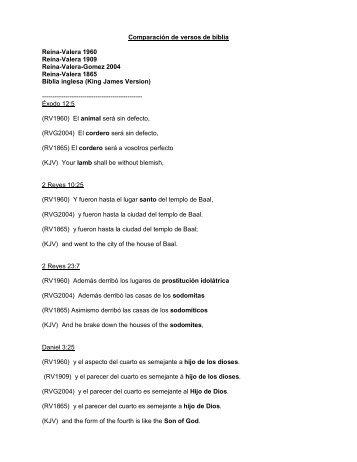 Comparación de versos de biblia _Master - The KJV Store