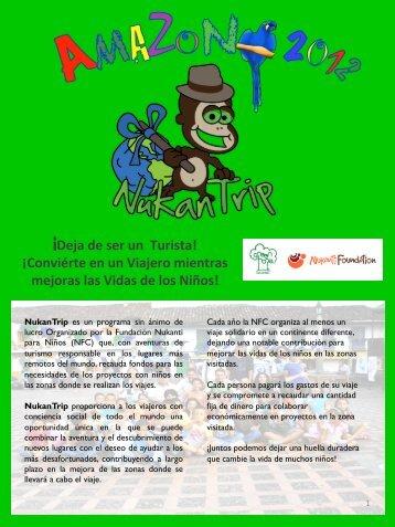 ¡Deja de ser un Turista! - Nukanti Foundation