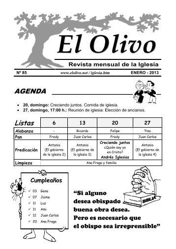 Enero - iglesia evangélica el olivo